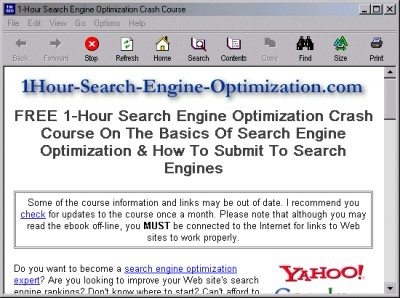 1-Hour Search Engine Optimization Crash Course 1.5 screenshot