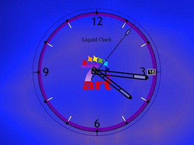 7art Liquid Clock ScreenSaver 1.1 screenshot
