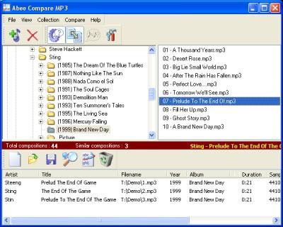 Abee Compare MP3 0.91 screenshot