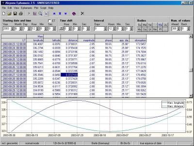 Alcyone Ephemeris 1.0.1 screenshot