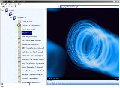 Anywhere Media Player 1.05 screenshot