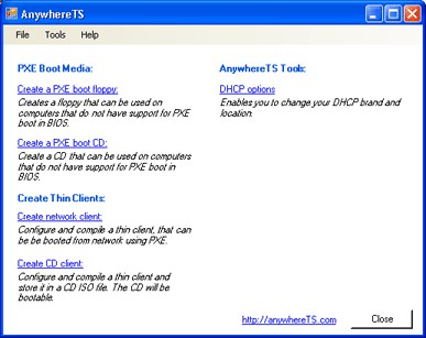 AnywhereTS 3.0.1 screenshot