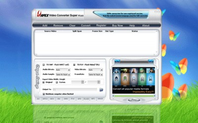 Apex Free Pocket PC Video Converter 5.95 screenshot