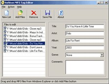 Ashkon MP3 Tag Editor 1.31 screenshot
