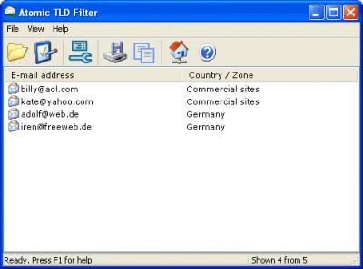 Atomic TLD Filter 1.30 screenshot