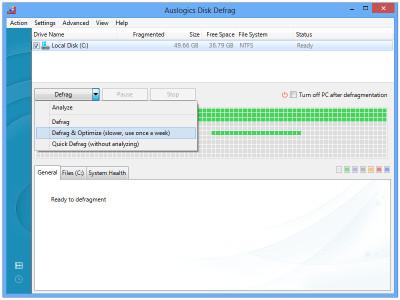 Auslogics Disk Defrag 7.1.5 screenshot