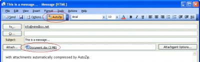 AutoZip for Outlook 2.2 screenshot