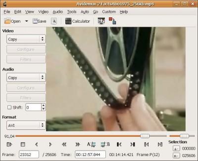 AviDemux 2.3 screenshot