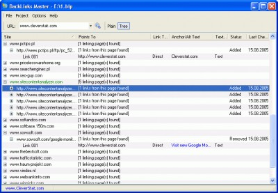 BackLinks Master 1.5 screenshot