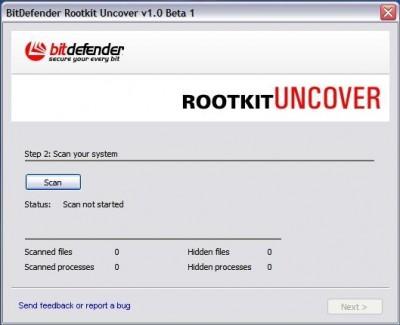 BitDefender RootkitUncover 1.0 Beta 2 screenshot