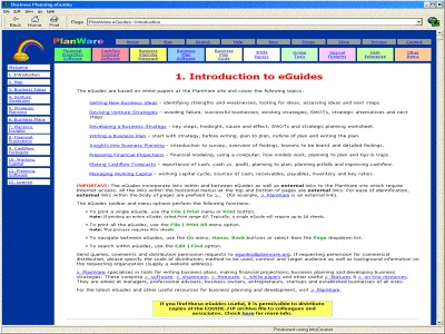 Business Plan eGuides 2.0 screenshot