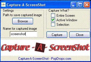 Capture-A-ScreenShot 1.08 screenshot