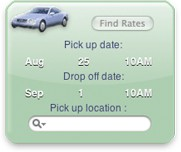 CarRental Yahoo! Widget 1.3 screenshot