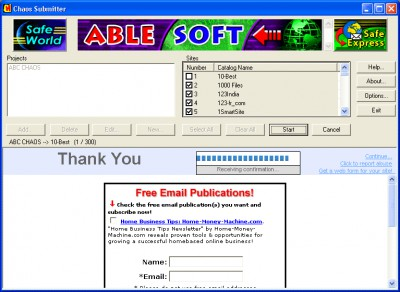 CHAOS Submitter 2.7 screenshot