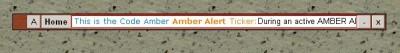 Code Amber Amber Alert Desktop Ticker 1.1 screenshot