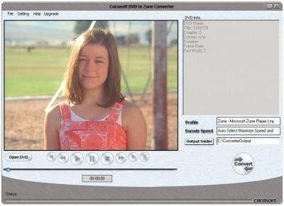 Cucusoft DVD to Zune Converter 5.97 screenshot