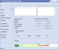 D-Plus+software Cleaner 2007 screenshot