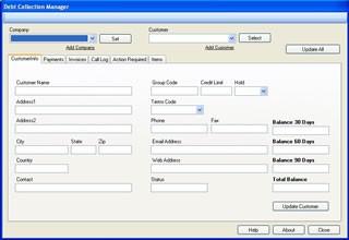 Debt Collection Manager 1.0.2 screenshot