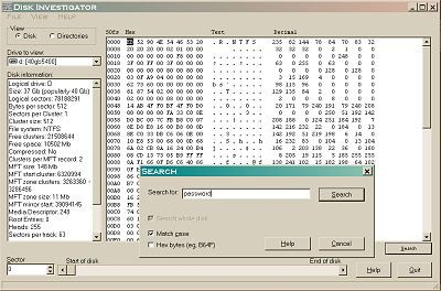 Disk Investigator 1.61 screenshot