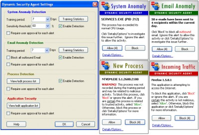 Dynamic Security Agent 1.0 screenshot