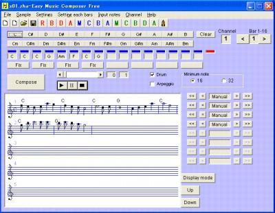 Easy Music Composer Free 9.81 screenshot