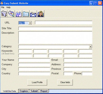 Easy Submit Website 1.0.1 screenshot