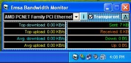 Emsa Bandwidth Monitor 1.0.50 screenshot