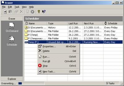 Eraser 5.3 screenshot