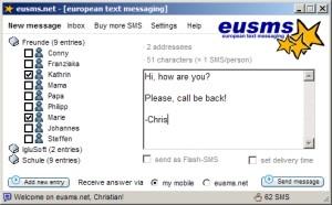 eusms.net 1.0 screenshot