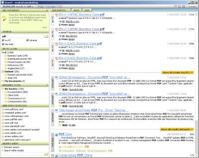 Exalead one:desktop 4.5.68.20 screenshot