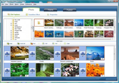 Flash SlideShow Maker 2.20 screenshot