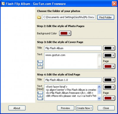 FLIP Flash Album Free 1.3.7710.1 screenshot