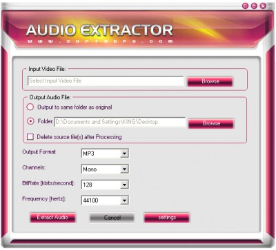 Free Audio Extractor 2.0.0.7 screenshot