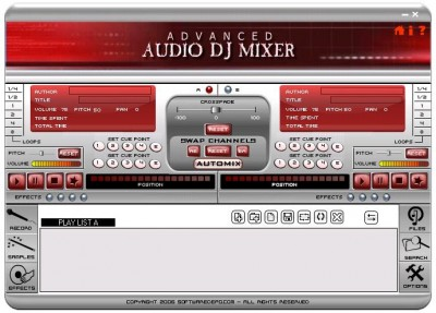 Free Audio Mixer 4.0.0.1 screenshot