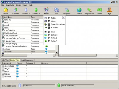 Free Database Compare 2.0 screenshot