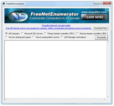 FreeNetEnumerator 1.6.5 screenshot