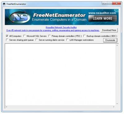 FreeNetEnumerator 1.6.5 screenshot