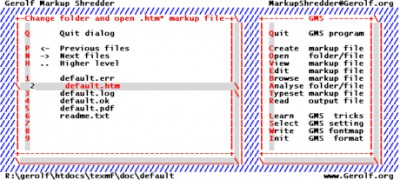 Gerolf Markup Shredder 0.08a screenshot