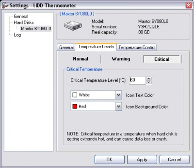 HDD Thermometer 1.3 screenshot