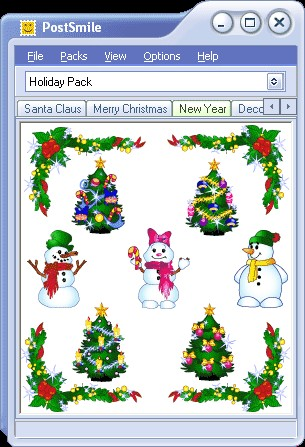 Holiday Smiley Collection for PostSmile 6.4 screenshot