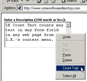 IE Count Text 1.0 screenshot