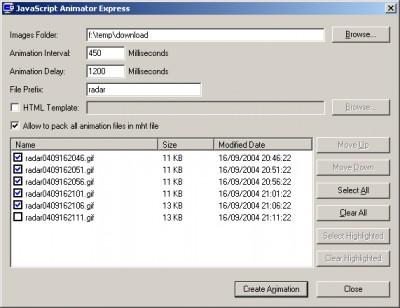 JavaScript Animator Express 1.10 screenshot