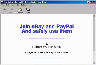 Join eBay and PayPal and safely use them eBook 1.0 screenshot