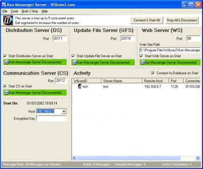 Ken Messenger Server 5.0.2 screenshot