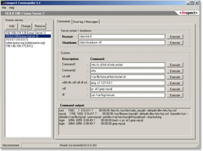 Linspect Commander 1.1 screenshot