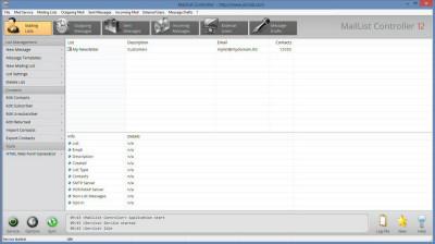 MailList Controller Free 9.1 screenshot