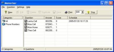 Memoriser 1.2.0.0 screenshot