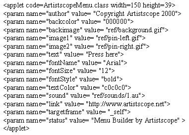 Menu Builder 1.0 screenshot