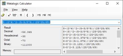 Metalogic Calculator 3.3 screenshot