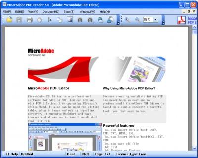 MicroAdobe PDF Reader 5.3 screenshot